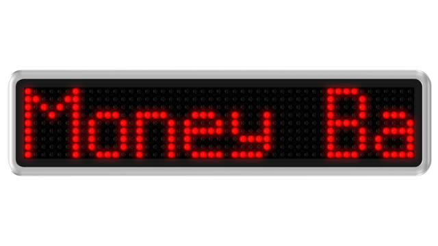 Led dot display with 30-Day Money Back Guarantee text message video
