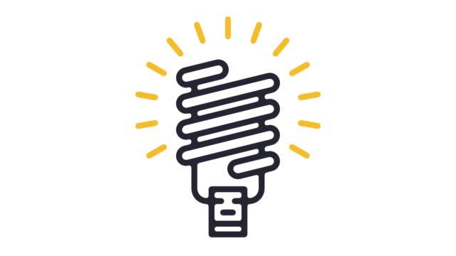 led-lichtlinie icon animation - elektrische lampe stock-videos und b-roll-filmmaterial