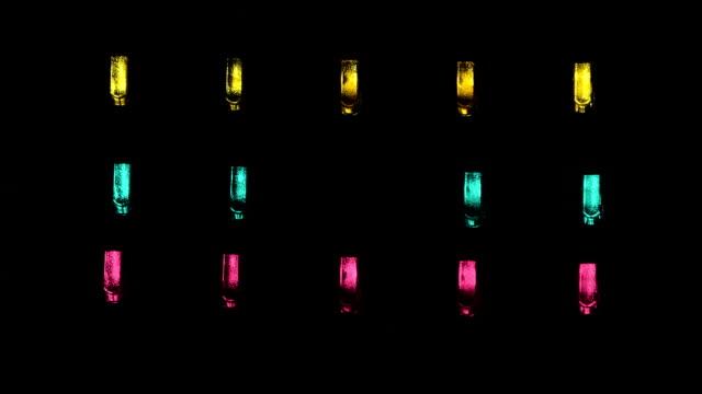 led light multicolored video