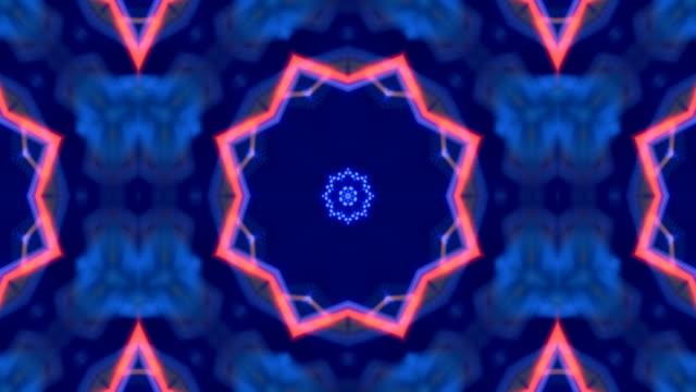 led ekran kaleidoscope desen - dans müziği stok videoları ve detay görüntü çekimi