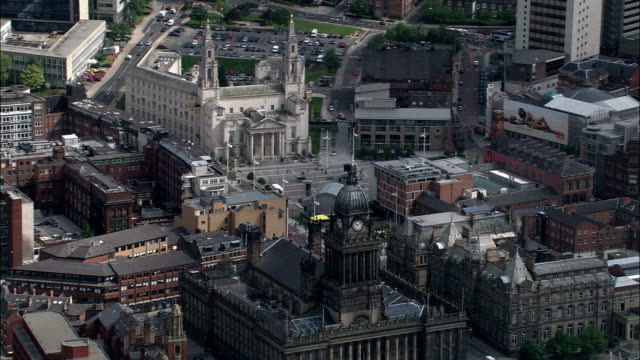 Leeds  - Aerial View - England, Leeds, United Kingdom video