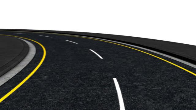 Left turning road loop video