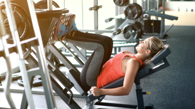 Leg press exercise. video