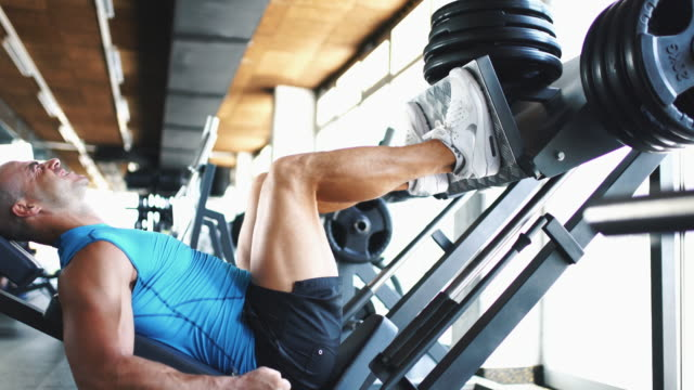 Leg press exercise. video