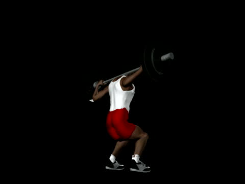 レグ squat 、アルファチャネル ntsc - 人の筋肉点の映像素材/bロール