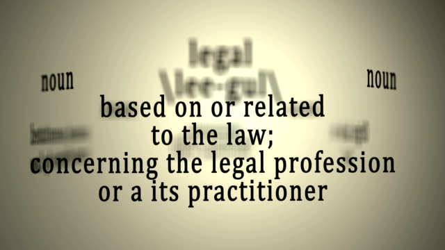 Legal Definition video