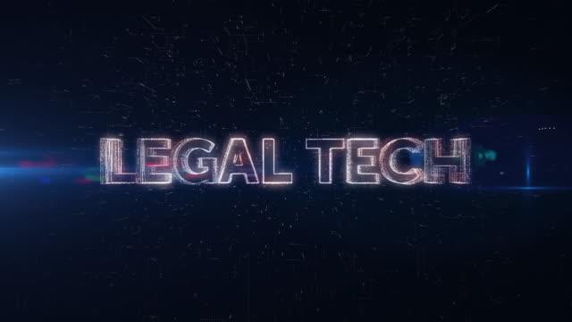 Legal Tech word animation - vídeo
