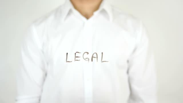 Legal, Written on Glass video