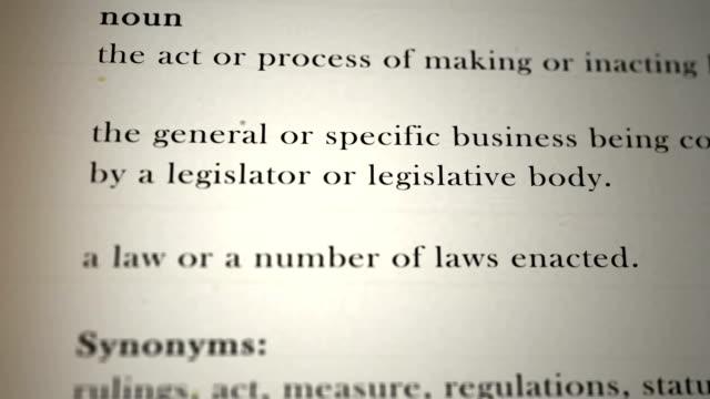 la legislazione definizione - passo montano video stock e b–roll