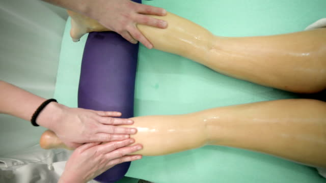 Legs and buttocks massage video