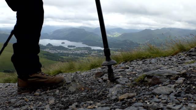 Legs and trekking poles video