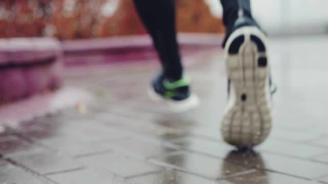 Legs of Jogging Man video