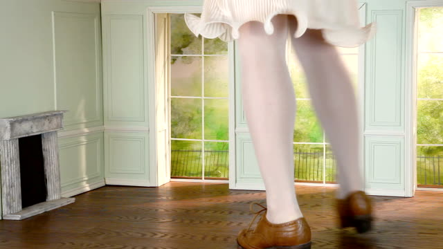 Legs of woman in tiny house Legs of giant woman in small house stamping feet stock videos & royalty-free footage