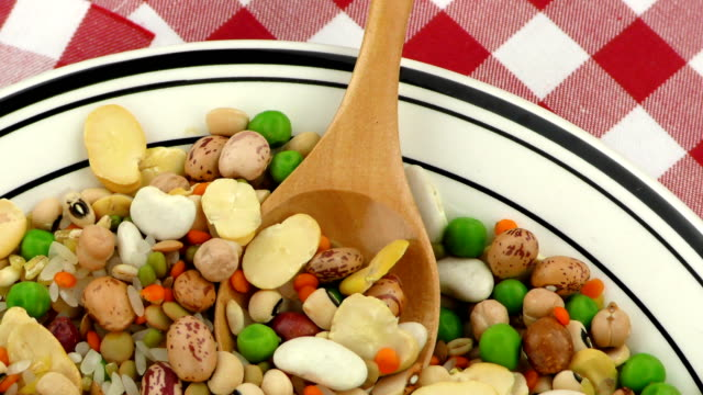 Legumes Delicious and Healthy Natural  Mix Food Legumes Delicious and Healthy Natural  Mix Food uncooked pasta stock videos & royalty-free footage