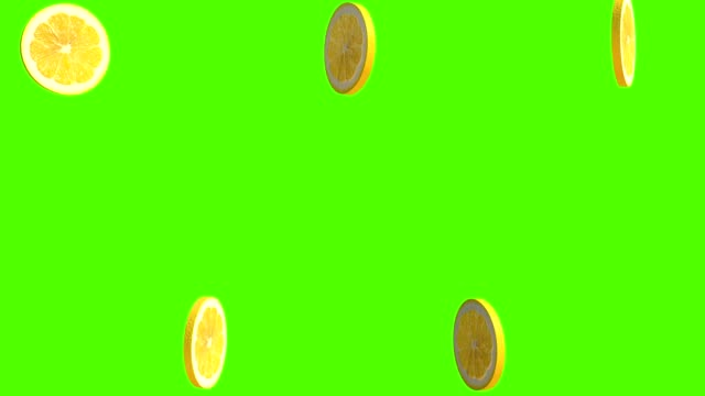 lemon, 3d animation for cookers, isolated on green screen background, 4k - лимон стоковые видео и кадры b-roll