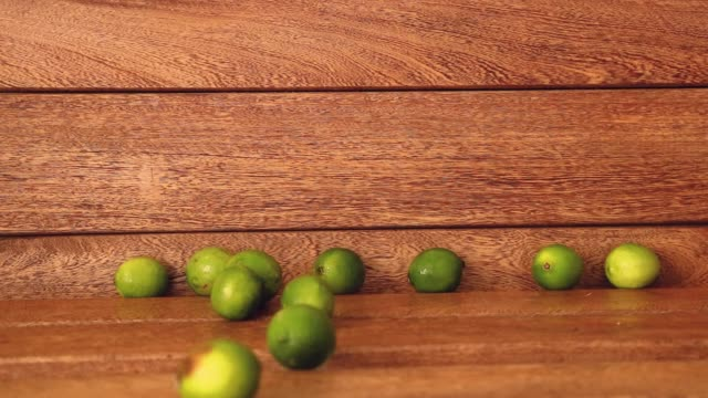 lemons falling from the sky on wood