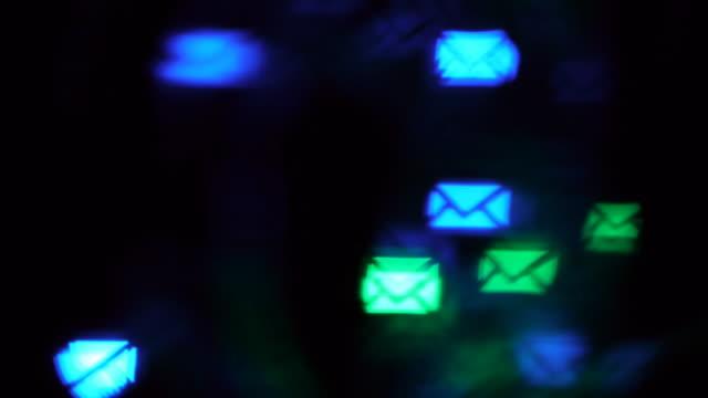 lens flare background many envelopes - kuvert bildbanksvideor och videomaterial från bakom kulisserna