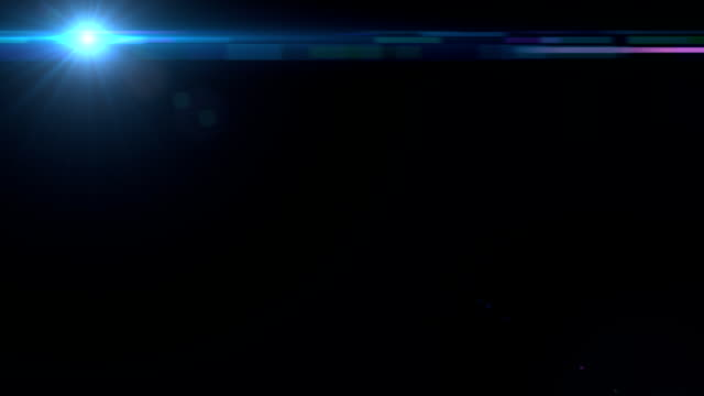 Lens Flares crossing Sea Blue slope video