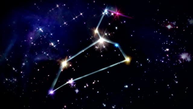 vídeos de stock e filmes b-roll de 05 leo horóscopo faixa no espaço - astrologia