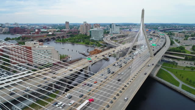 Leonard Zakim Bridge Boston video