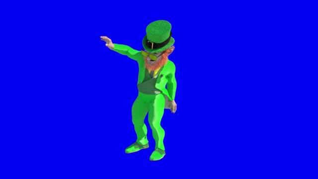 Leprechaun sign for st patricks day render 3d background video