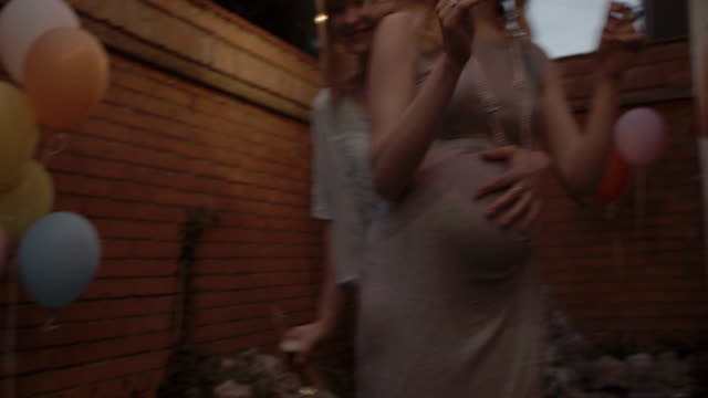 HD: Lesbian Couple Dancing At Garden Party. video