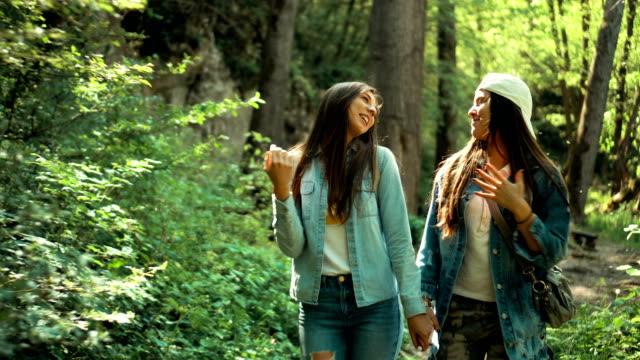 Lesbian couple in a walk video
