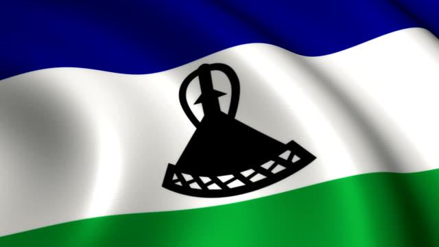 Lesotho Flag Loopable video