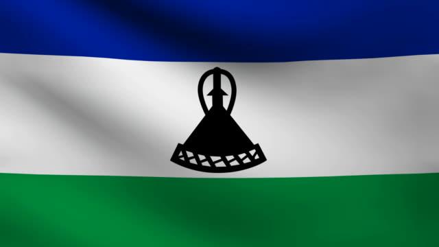 Lesotho flag. video