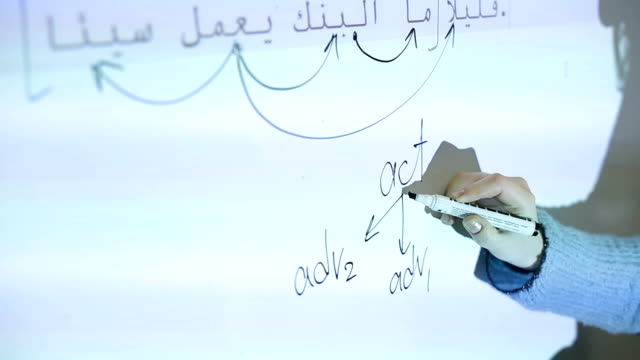 A lesson of Arabic language in the school video