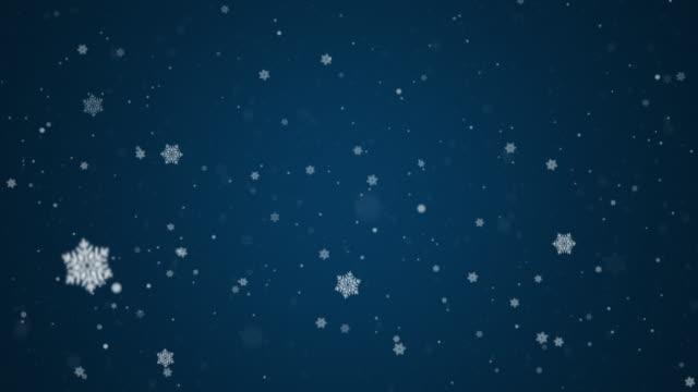 lassen sie es schneien - schneeflocken stock-videos und b-roll-filmmaterial