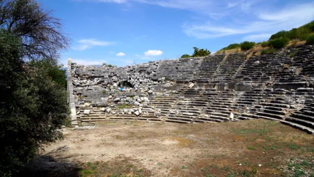 Letoon ancient city Letoon ancient city aegean turkey stock videos & royalty-free footage
