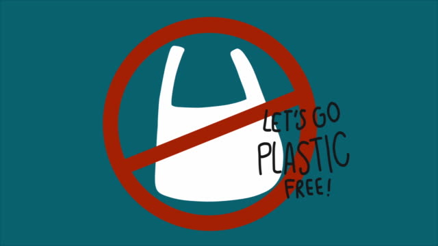 let's go plastic free , environment concept - censura video stock e b–roll