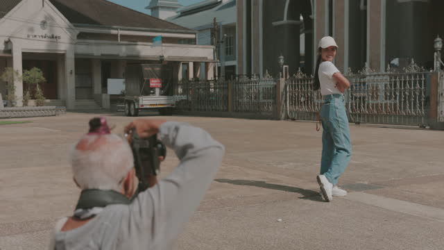 Let's photographing a picture-stock Video video
