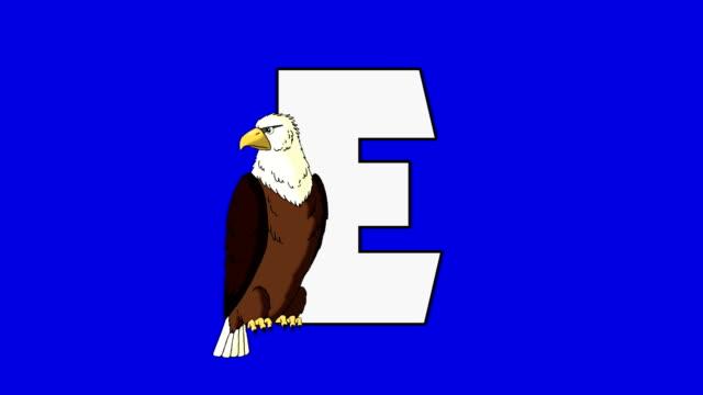 bokstaven e och d eagle (förgrund) - e post bildbanksvideor och videomaterial från bakom kulisserna