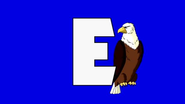 bokstaven e och eagle (bakgrund) - e post bildbanksvideor och videomaterial från bakom kulisserna