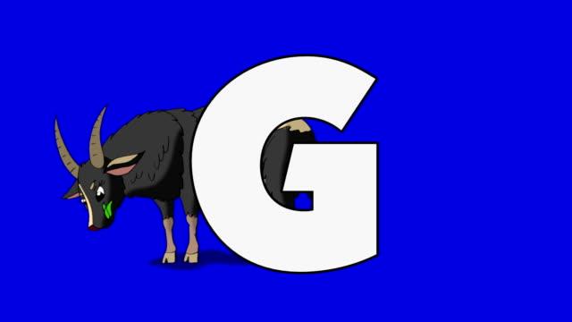 手紙 G、ヤギ (背景) ビデオ