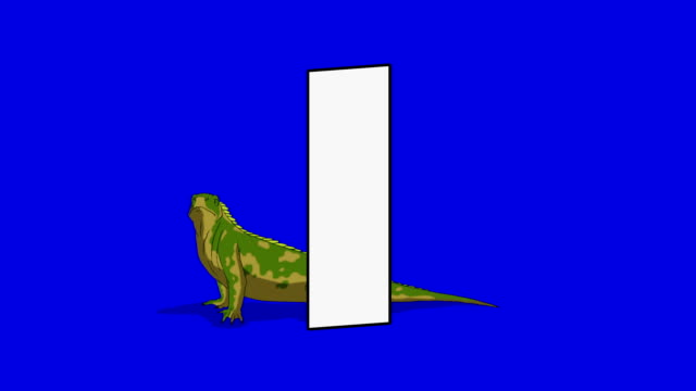 Letter I and Iguana (background) video