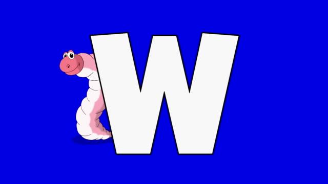Buchstabe W und Wurm (Hintergrund – Video
