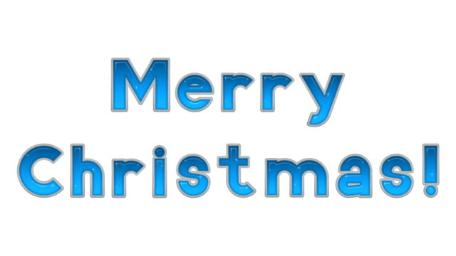 Lettering Merry Christmas, Seamless Loop video