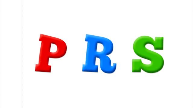vídeos y material grabado en eventos de stock de letras p, r, s en alfabeto latino en un cuaderno blanco - letra s
