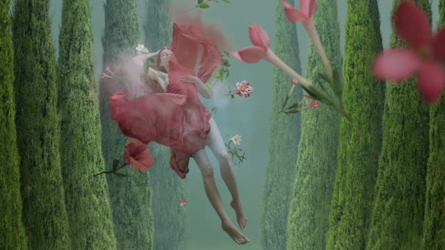 levitation dreams animation of PSD dress stock videos & royalty-free footage