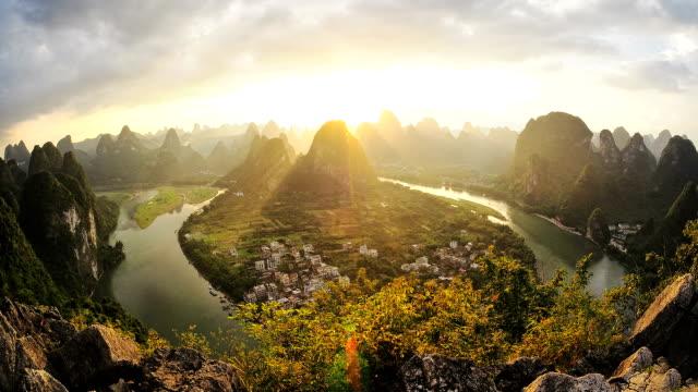 Li River HD timelapse. Guilin. Guangxi. China video