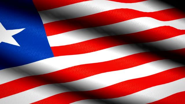 Liberia Flag Waving Textile Textured Background Seamless