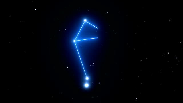 Libra Constellation on a Beautiful Starry Night Background video