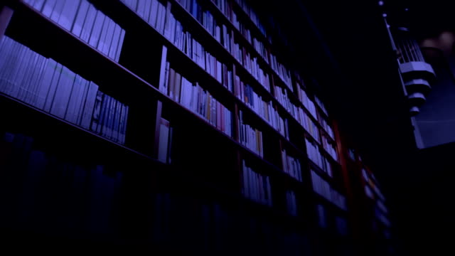 Library at night video