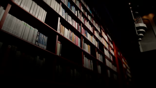 Library book shelves video