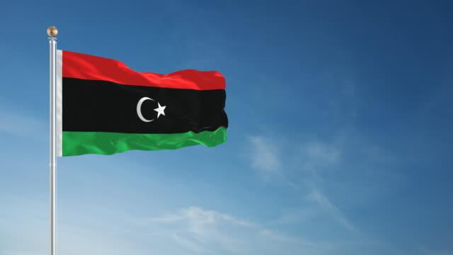 4 K Libyen Flagge-Endlos wiederholbar – Video