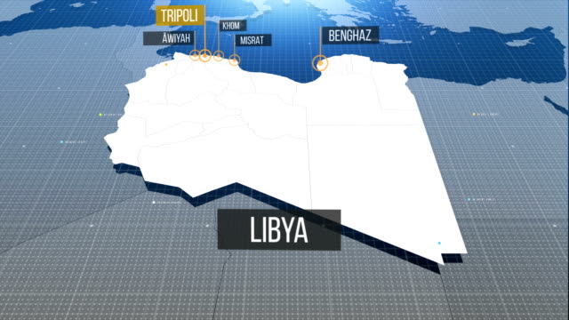 libya map - libia video stock e b–roll