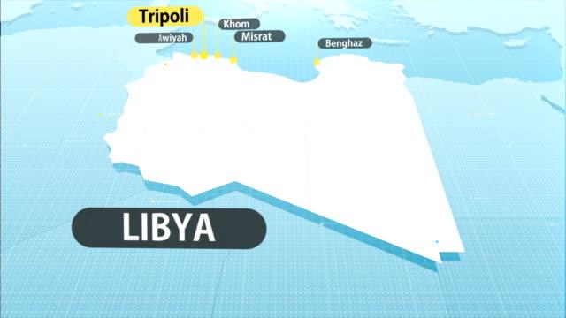 libyan map - libia video stock e b–roll